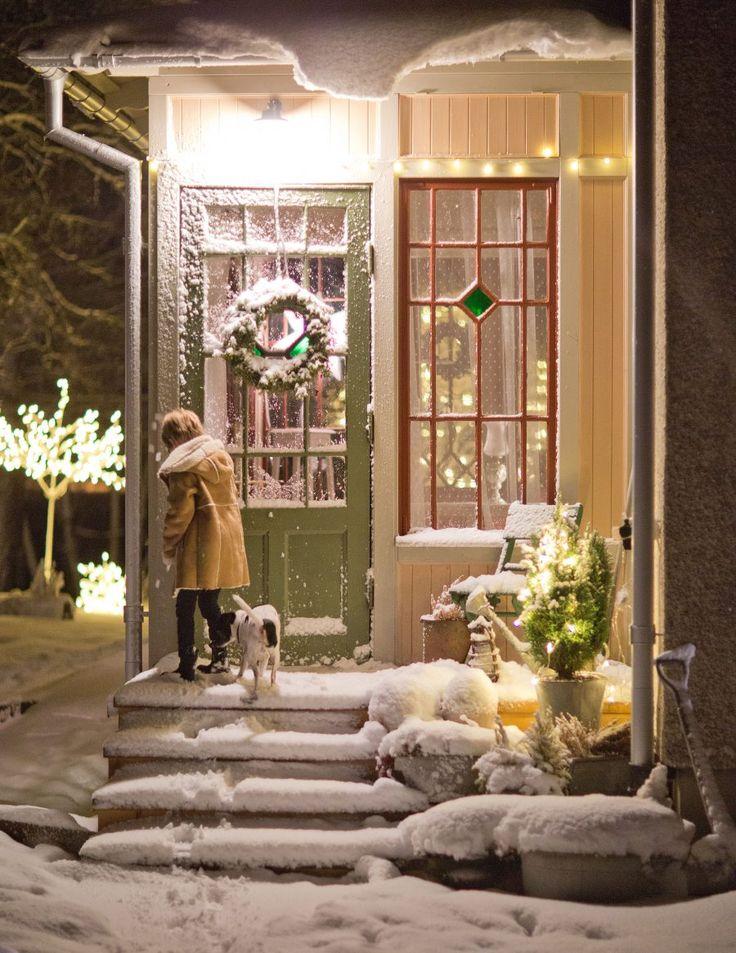 Punchveranda, byggnadsvård, julstämning