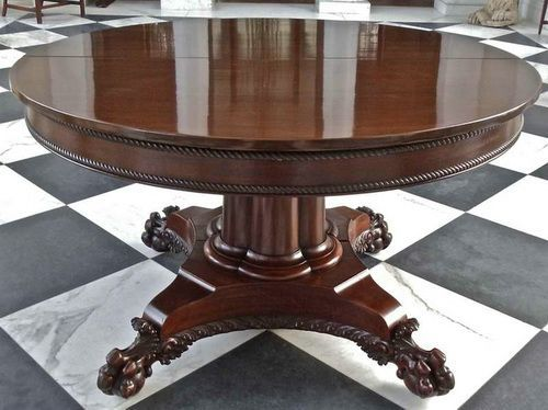 Cheap Expandable Round Pedestal Dining Table