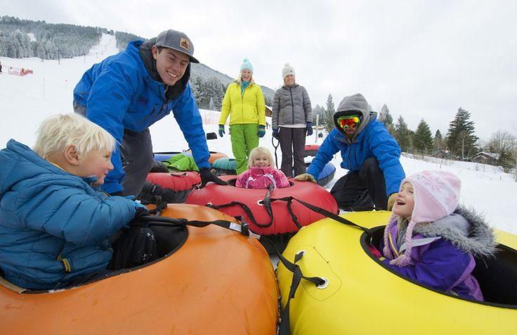Kids Snow Tubing At Snow King