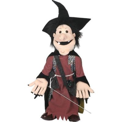 Wanda Witch with Black Cat Puppet