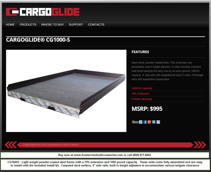 Avalanche Cargoglide BEST bedslide for 2002-2013 Chevy Avalanche