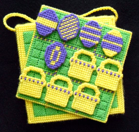 TicTacToe Game  Baskets and Eggs by gailscrafts on Etsy, $8.00