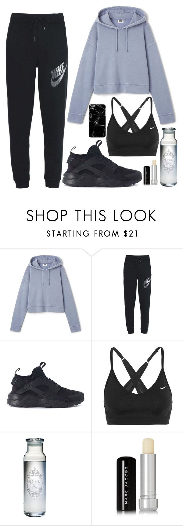 """""""Hoshi X Dance Club"""" by jleeoutfitters ❤ liked on Polyvore featuring NIKE, Marc Jacobs and Harper & Blake"""