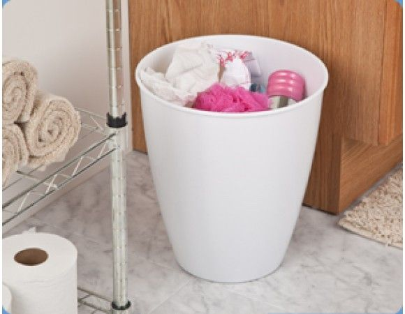 The 3 Gallon Round Wastebasket is designed with a classic round shape and offers a stylized polished look. This wastebasket is ideal for use in the bathroom, bedroom and office and accommodates a standard plastic shopping bag.  Features:- High-polish finish. Classic round shape. Accommodates a standard plastic shopping bag.  Applications:- Ideal for use in the bedroom, bathroom or home office.