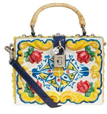 Dolce & Gabbana Majolica Padlock Top Handle Bag
