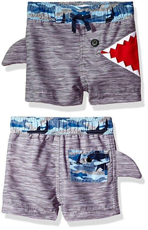 1ace18672b Mud Pie Baby Boys' Shark Swim Trunks | Baby Stuff | Mud pie baby ...