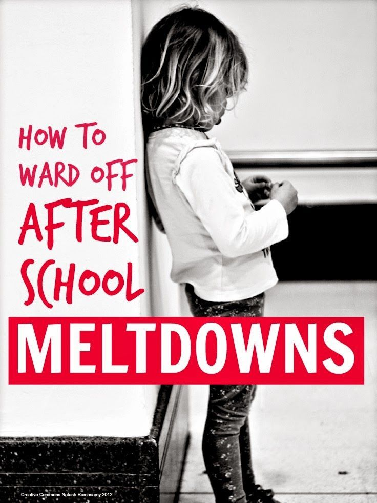 Thoughts on how to avoid after school meltdowns when kids AND mom are tired and grumpy and the blood sugar is running low ...