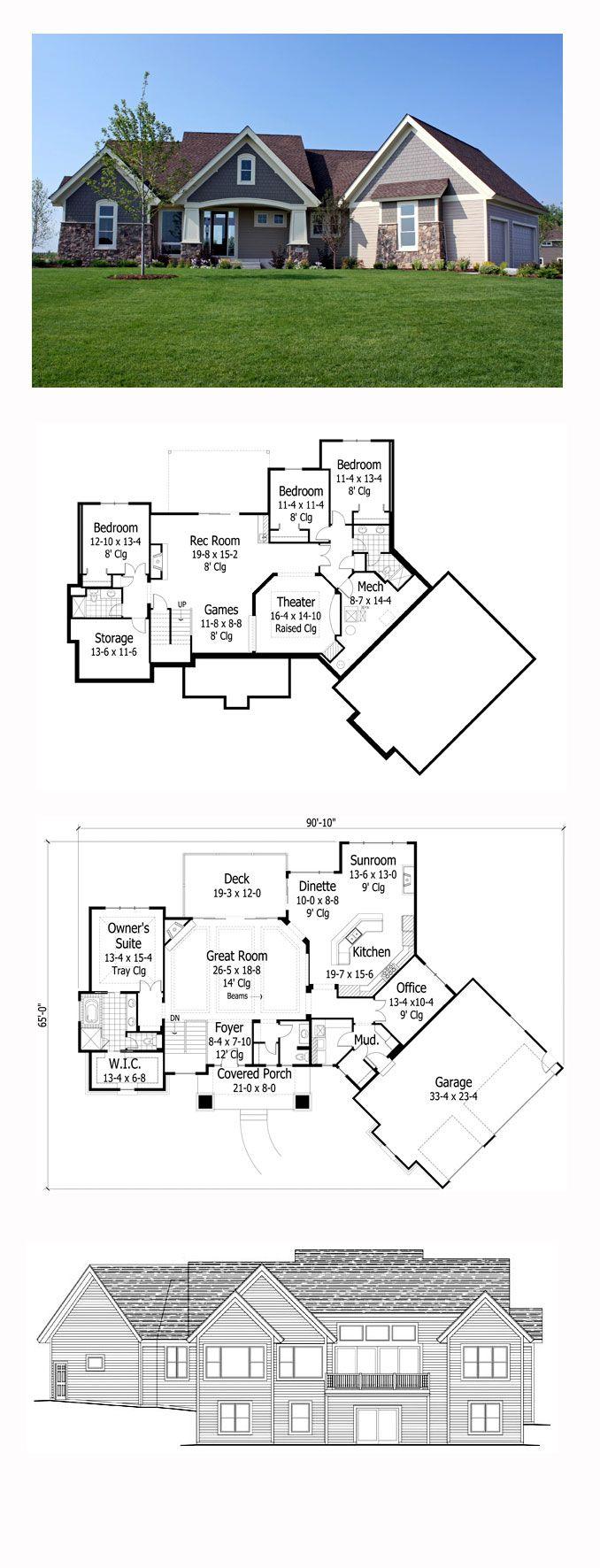 17 best bungalow house plans images on pinterest cool house bungalow style cool house plan id chp 47094 total living area 3997