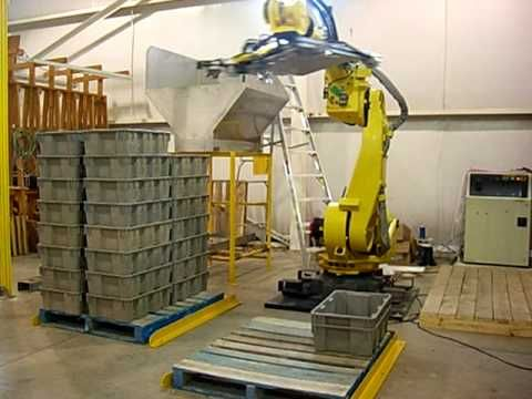Gumball dumping Fanuc robot with cognex vision system (+playlist)