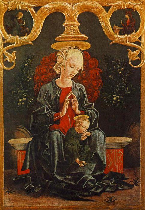 Cosmé Tura, Madonna con il Bambino in un giardino, circa 1452, Washington, National Gallery of Art