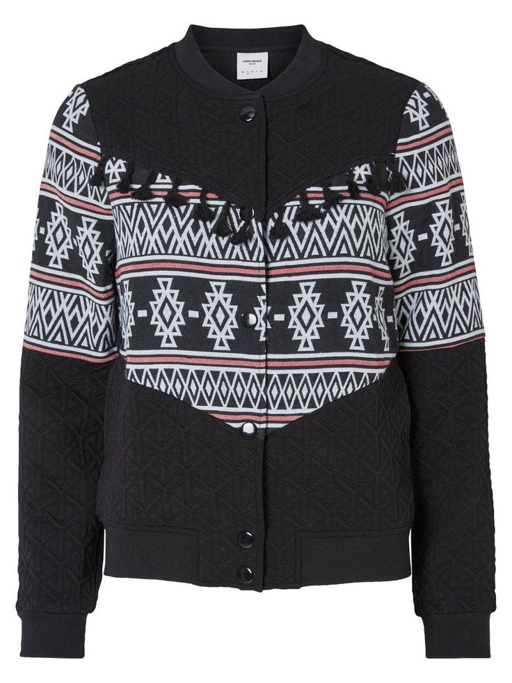 Bomber jacket from VERO MODA with aztec detailing.