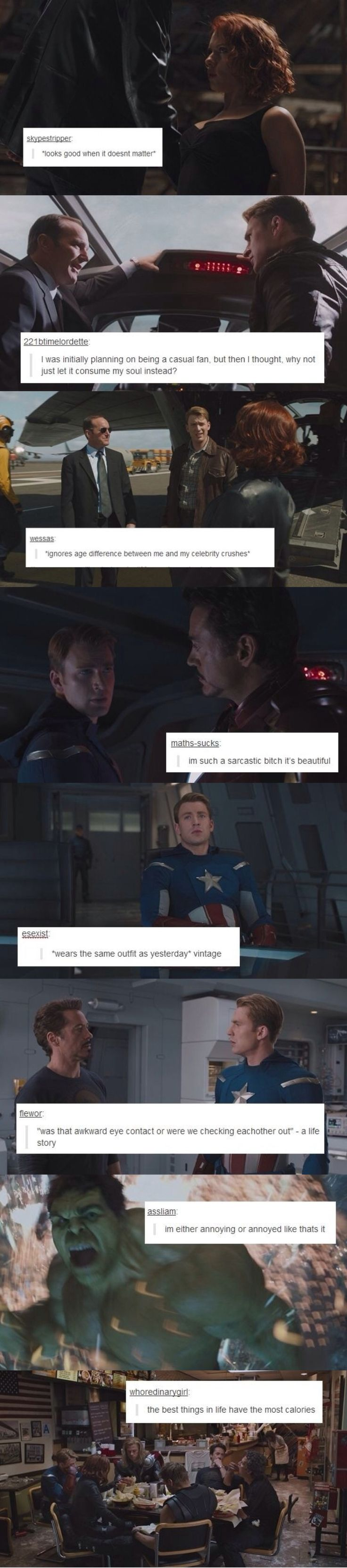 Status Update Avengers. I AM EVERY ONE OF THESE.                                                                                                                                                                                 More