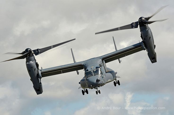 USAF Special Operations CV22 Osprey convertible, RIAT 2015, Photo : André Bour