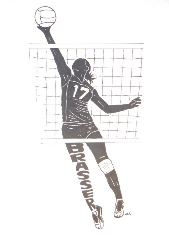 Female Volleyball Player Name Silhouette
