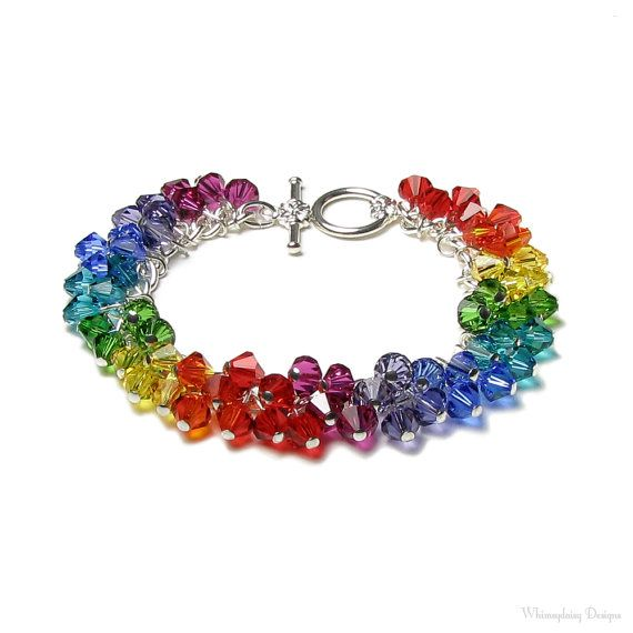 Swarovski Crystal Rainbow Colors Charm by whimsydaisydesigns