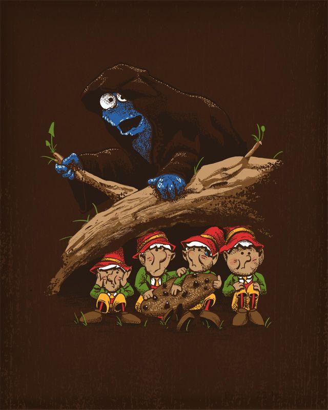 Nazgûl Cookie Monster and the Keebler (Hobbits) Elves