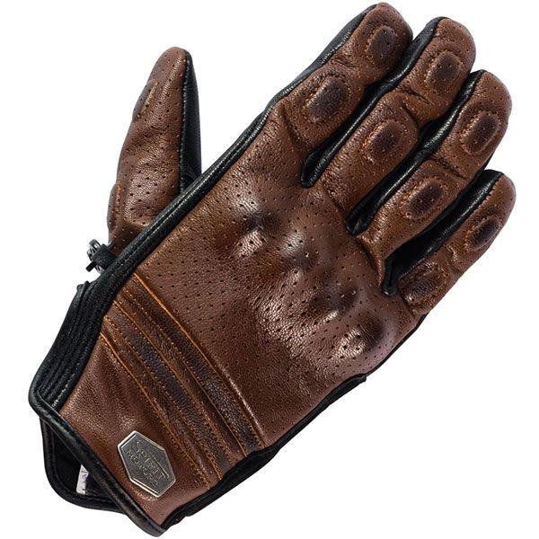 Spirit Motors Perforated Leather Glove 1 0 Brown Perforated Leather Leather Leather Glove