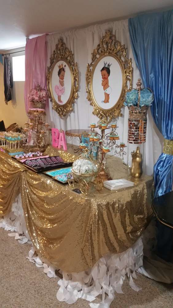 Prince And Princess Gender Reveal Party Ideas Photo 1 Of
