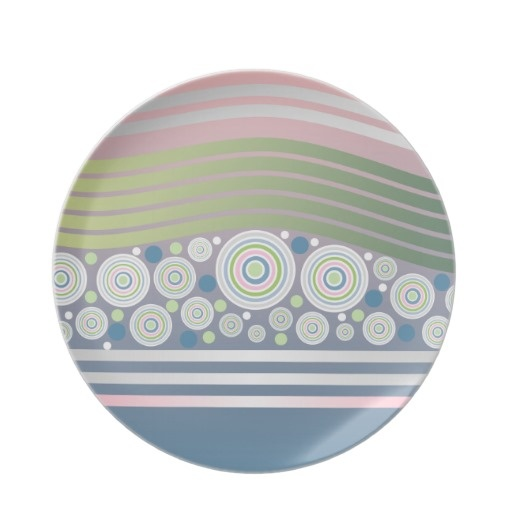 Abstract Pastel Circles Waves Stripes