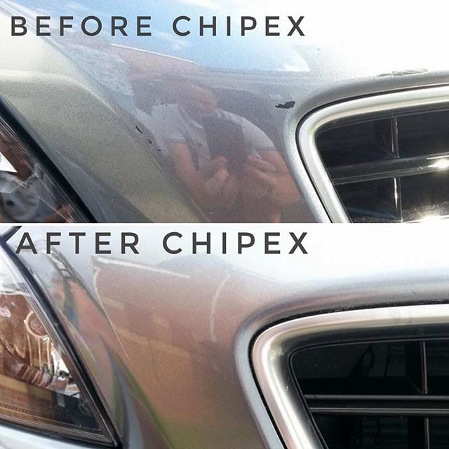 Chris Hodgson's before and after Chipex photos. 'A very impressive product. Colour match is excellent. Take your time and the results will be well worth it'.