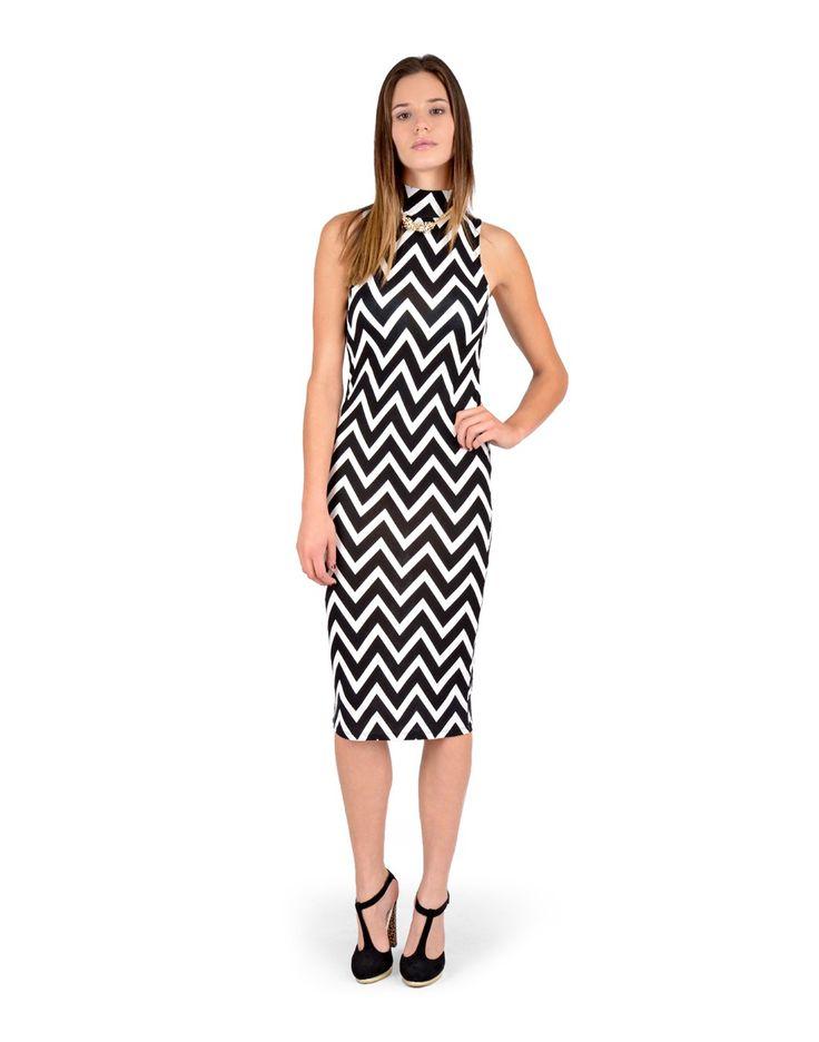 Zig-zag midi dress - Dresses - Clothing - $29.50