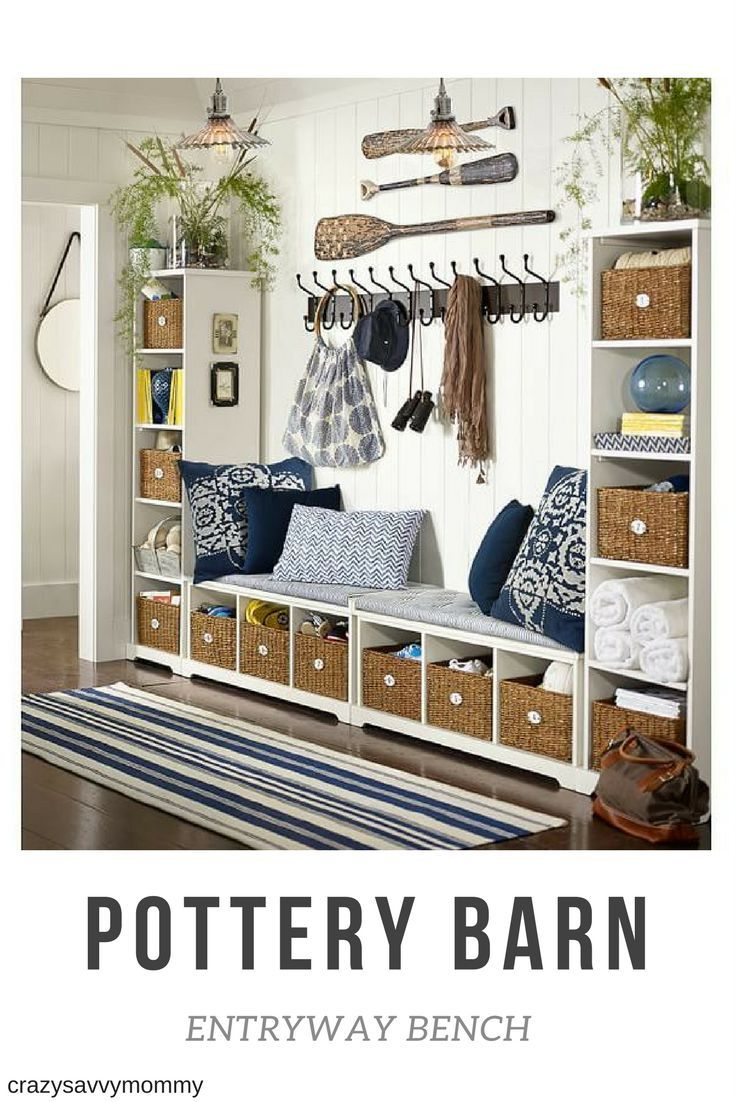 Pottery Barn Entryway Bench Bring Order To Busy Entryways With A Well Designed System That S Expertly Constructed For Years Of Home Decor Home Decor