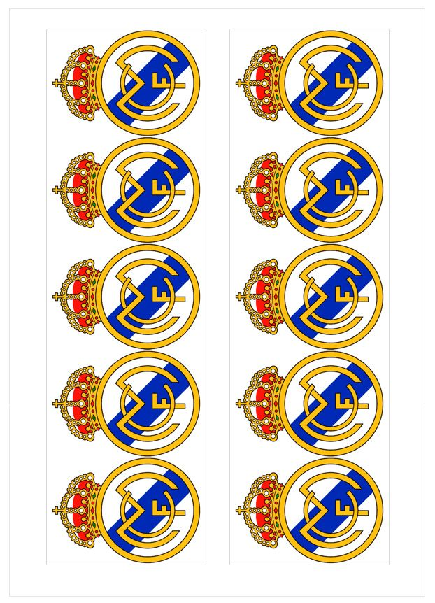 Ver producto: Modelo nº 623: Real Madrid para tarta