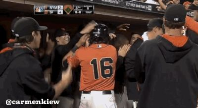 Posey Home run celebration gif