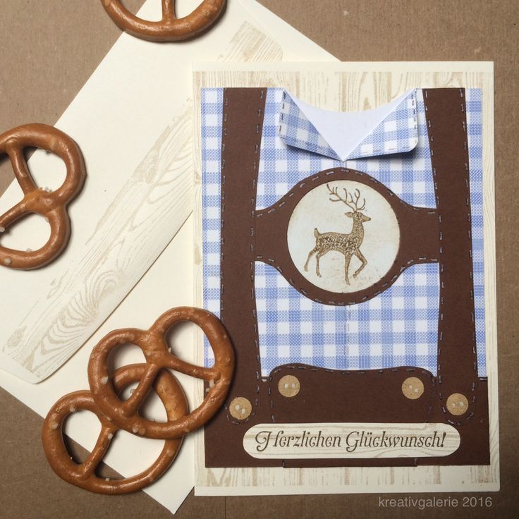 #selbermachen #stempeln #lederhose #bayrisch #karte #glückwunsch #geburtstag  #handmadecards