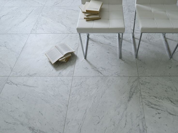Porcelain stoneware floor tiles with marble effect Marmi Bianchi Collection by Ceramiche Coem