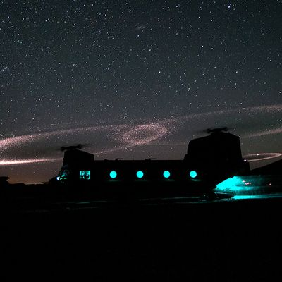 Helicopter Rotor Galaxy-Like Visual Effect Explained