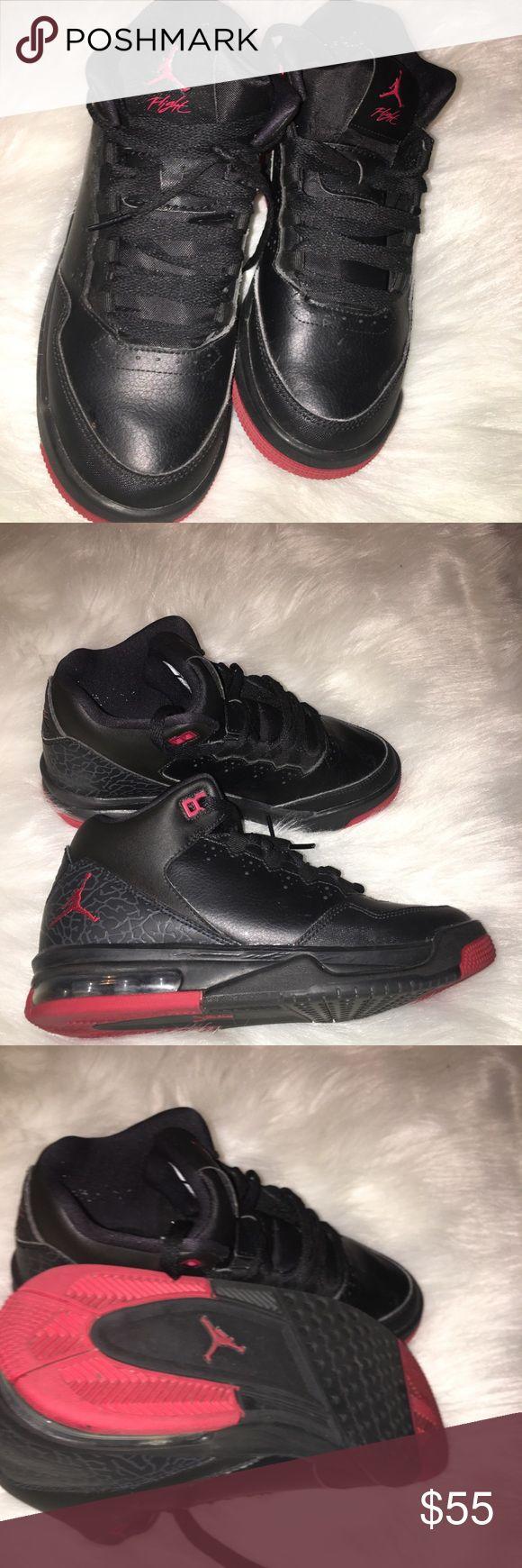Jordan Air Flights, 5.5 Boys Great condition Black/red boys grade school Jordan, great condition! Jordan Shoes Sneakers