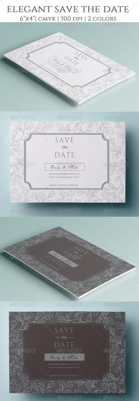 wedding invitation template themeforest%0A Elegant Save the Date  Invitation TemplatesPrint