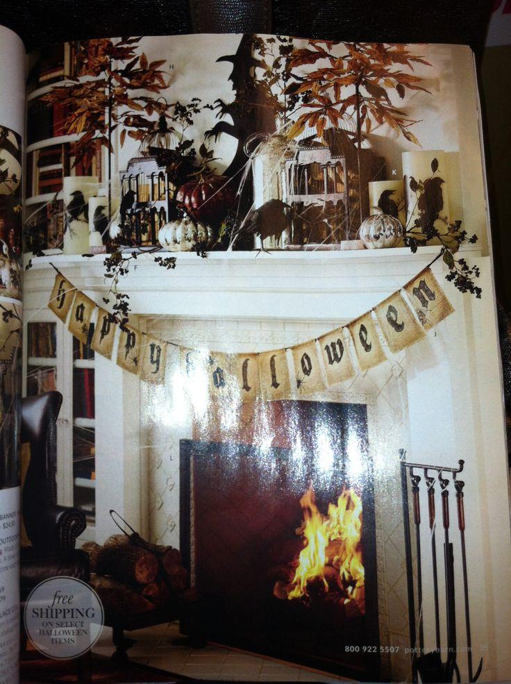 halloween mantle - Halloween Indoor Decor