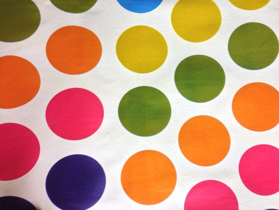 Vintage Large Multi colour spots Retro Vintage by TheFabricShopUK, £7.50