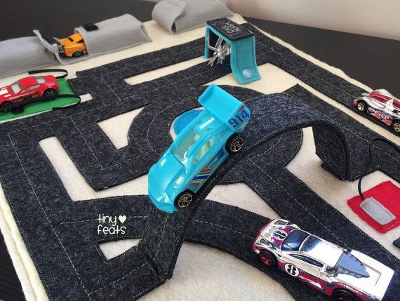 City Car Quiet Activity Mat includes Pop-Up Overpass & Truck Wash - Roll Up Busy Mat DOWNLOADABLE PATTERN with How to Make Instructions