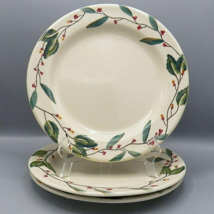 3 Hartstone Christmas Mistletoe Dinner Plate 11 Quot Stoneware