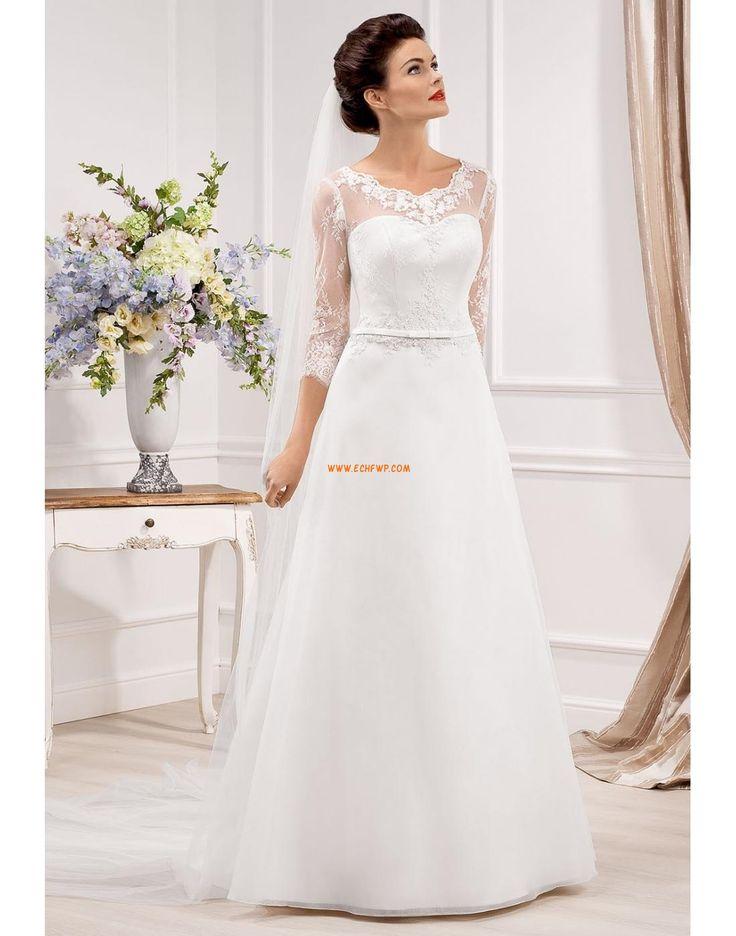 A-line Classique & Intemporel Zip Robes de mariée 2014