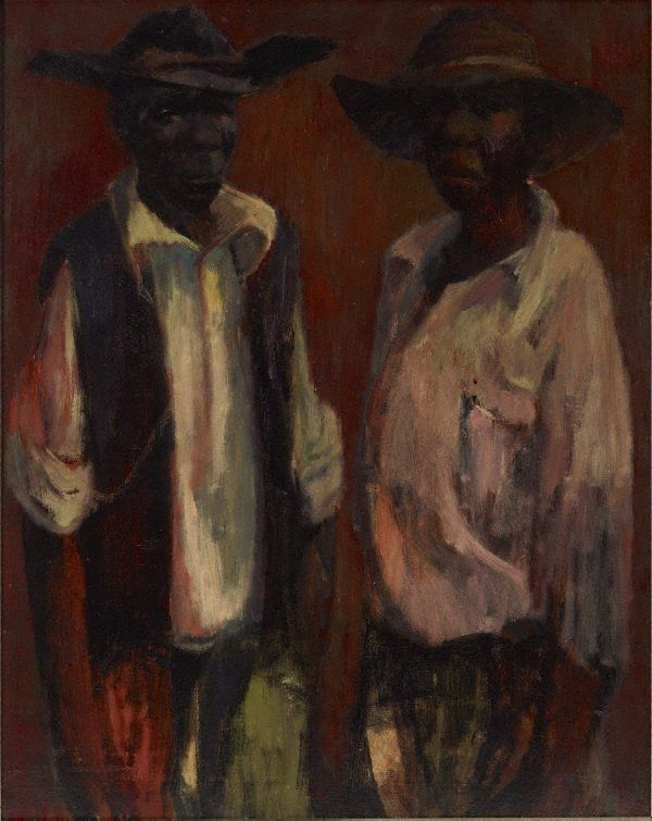 AGNSW collection Russell Drysdale Station boys (circa 1953) 95.2013