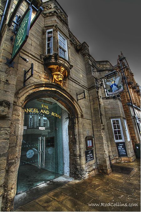 Angel and Royal Hotel in Grantham ,Lincolnshire. Said to be the oldest coaching Inn in England. 14th century