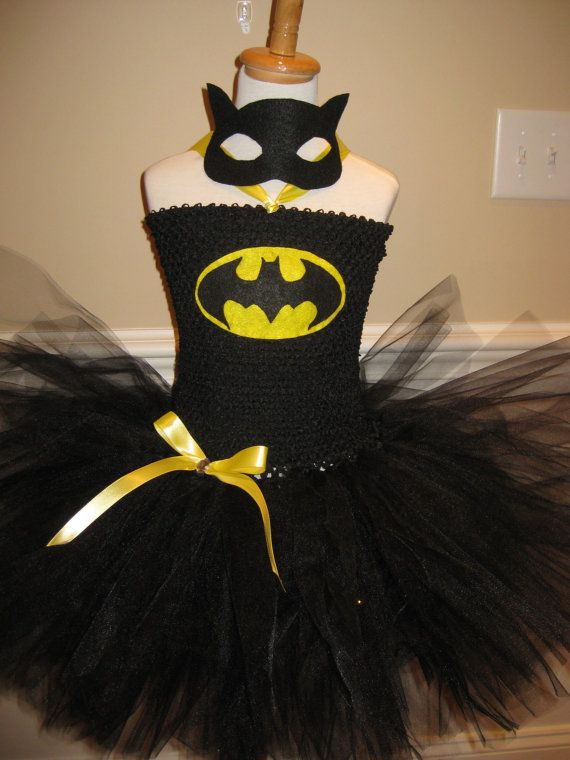 Batman Super Hero Tutu Dress by TieDyedFairyTales on Etsy, $45.00