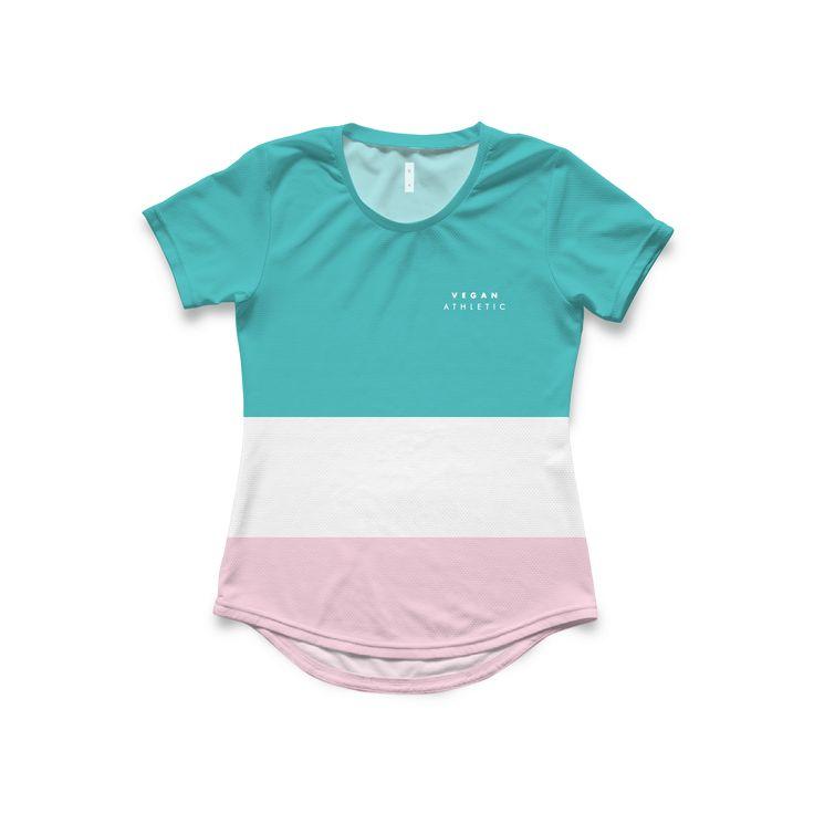Women's Tech-Tee / Touquise & Pink