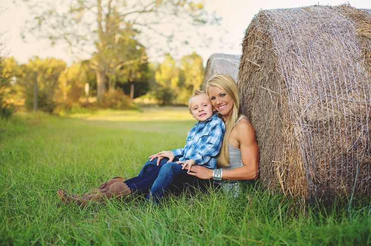 Family Photography  Country, Hay, Mother and Son  www.dellaina.com  Pensacola and surrounding areas
