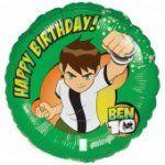 """Palloncino """"Happy Birthday"""" Ben10. Venduto sgonfio. Per decorare e completare la Festa di Compleannoa tena Ben Ten. Disponibile da C&C Creations Store"""