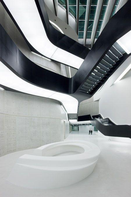 Black and white stairs, beautiful interiors.