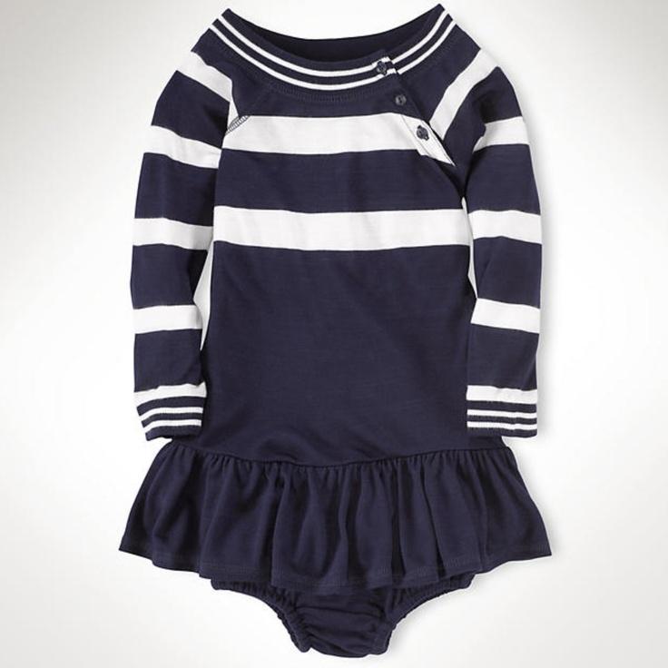 Ralph Lauren Infant Girls Jersey Striped Dress