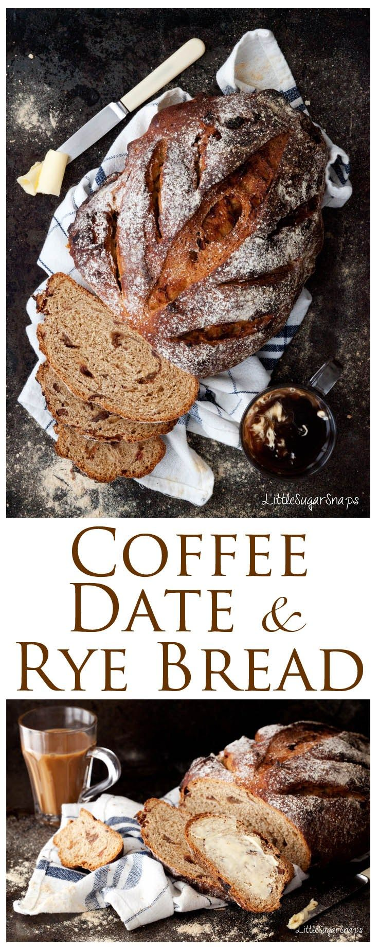 Homemade Coffee Date Rye Bread - a combination of sweet dates, bitter coffee & sour rye makes a great simple breakfast.