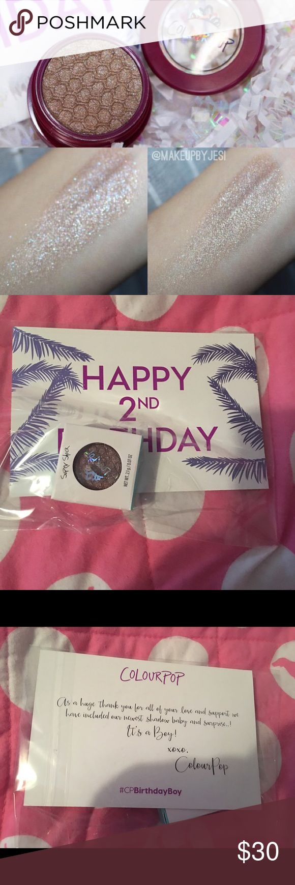 Colourpop Birthday Boy eyeshadow Birthday Boy eyeshadow from Colourpop..limited edition..I made and order and forgot something so I made a second order and they sent me two of these eyeshadows. This one has never been opened Colourpop Makeup Eyeshadow