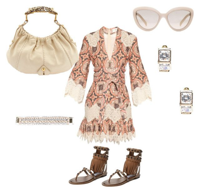 """""""Summer time, other side of the world"""" by gonnadressyouup on Polyvore featuring Prada, Zimmermann, Bebe, Yves Saint Laurent and Ivy Kirzhner"""