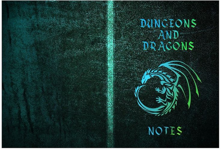 Dungeons and Dragons Notebook Green